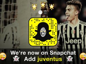 La Juventus su Snapchat